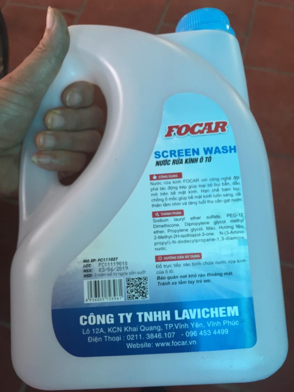 Nước Rửa Kính Ô Tô Focar Screen Wash (2.75L)