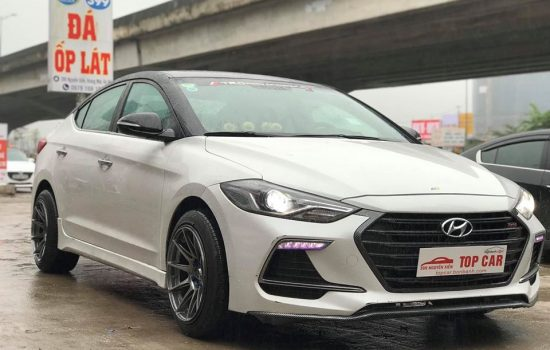 Elantra 1.6AT Sport sx 2018 trắng biển TP