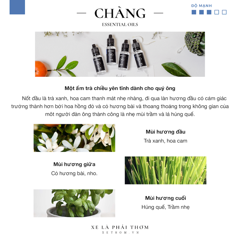 SPRAY PARFUM CAR / ROOM – CHÀNG- 60ML