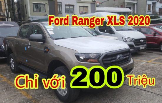 Đại lý xe Ford An Đô bán xe Ranger XLS 2.2L 4×2 AT Màu Ghi Vàng, Hỗ trợ trả góp 80%, xe chính hãng