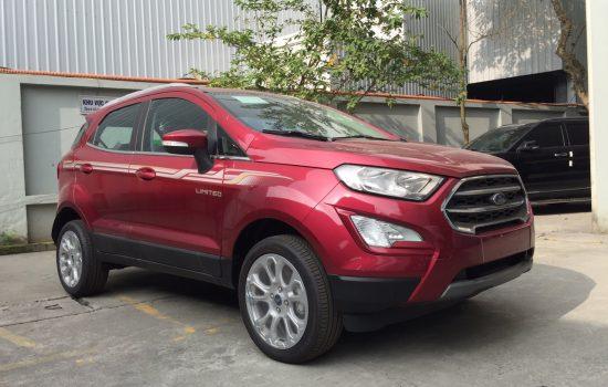Giá xe Ford Ecosport Titanium 1.5L 4×2 AT Màu Đỏ Năm 2020, Mới 100%, Tặng Bảo Hiểm Thân vỏ và Gói phụ Kiện